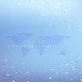 Graphic abstract background communication. Big data complex with compounds. Perspective backdrop with World Map. Minimal Royalty Free Stock Photo