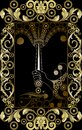 Graphical illustration of a Tarot card 9 Royalty Free Stock Photo