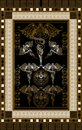 Graphical illustration of a Tarot card 7 Royalty Free Stock Photo