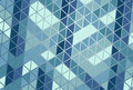 Graphic abstraction with mosaic decorative blue toned elements Royalty Free Stock Photo