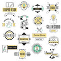 Graphic art design logo company identity decoration collection abstract business shape and technology modern web