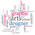 Graphic arts designer Royalty Free Stock Photo