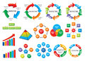 Graphic business diagram collection Royalty Free Stock Photography