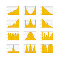 Graphic business ratings and charts collection infographic elements Stock Photos