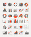 Graphic business ratings and charts infographic elements Royalty Free Stock Image