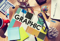 Graphic Creative Design Visual Art Concept Royalty Free Stock Photo