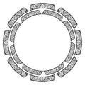 Graphic decorative frame for your design. Ethnic ornament. Vecto