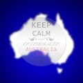Graphic design australia day related in shape of continent australian and badge with inscription keep calm and celebrate Stock Photography