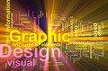 Graphic design background concept glowing Royalty Free Stock Photography