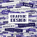 Graphic design background concept wordcloud illustration print concept word cloud collage Stock Images