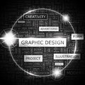 Graphic design concept illustration tag collection wordcloud collage Royalty Free Stock Image