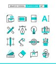 Graphic design, creative package, stationary, software and more. Royalty Free Stock Photo