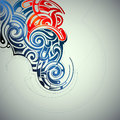 Graphic design element in tribal art style Royalty Free Stock Image