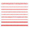 Graphic design elements - red page divider lines