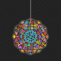 Graphic design hanging light use as fixture of as a separate element Stock Photography