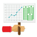 Graphic design, human resources, business concept. Teamwork investment earnings