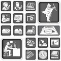 Graphic design icons collection of different squared Stock Photo