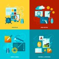 Graphic Design Icons Flat Royalty Free Stock Photo