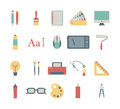 Graphic design icons set of colorful Stock Images