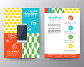 Graphic Design Layout with smart phone concept template