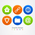 Graphic design set of business icons buttons Royalty Free Stock Photo