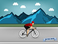 Graphic design vector of athlete cycling race on the road at the mountain