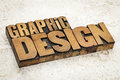 Graphic design in wood type text vintage letterpress on a ceramic tile background Royalty Free Stock Image