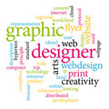 Graphic designer tags Royalty Free Stock Photo