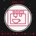 Coffee machine, coffee maker linear icon