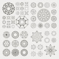 Graphic elements collection of different for design Royalty Free Stock Image