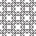 Graphic floral detailed seamless vector pattern Royalty Free Stock Photos