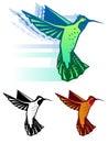 Graphic hummingbird Royalty Free Stock Photo