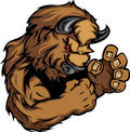 Graphic Image of a Bison or Buffalo Mascot Stock Images