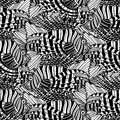 Graphic lion fish pattern Royalty Free Stock Photo