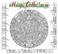 Graphic maya calendar with mystic symbols Royalty Free Stock Photo