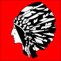 Graphic picture in profile North American Indian Royalty Free Stock Photo