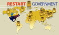 Graphic represent government restart event for present shut down Royalty Free Stock Image