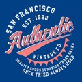 Graphic SAN FRANCISCO AUTHENTIC VINTAGE