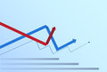 Graphic Set Finance Arrows Chart Infographic Financial Business Growth