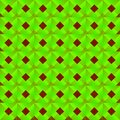Graphic Stylish Pattern With Dark Squares And Green Rhombuses In A Checkerboard Pattern