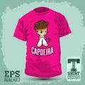 Graphic T- shirt design - Capoeira Character
