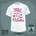 Graphic t shirt design feliz dia de san valentin happy valentines day spanish text vector illustration print Royalty Free Stock Photo