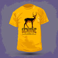 Graphic t shirt design genuine impala vector illustration Royalty Free Stock Photo