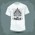 Graphic T- shirt design - Poker Spade emblem