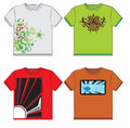 Graphic t-shirts Royalty Free Stock Images