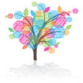Graphic tree icon Royalty Free Stock Image