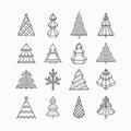 Graphical Christmas tree set