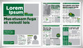 Graphical design newspaper green template Royalty Free Stock Image