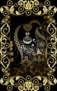 Graphical illustration of a Tarot card 11 Royalty Free Stock Photo