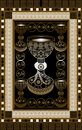 Graphical illustration of a Tarot card 1 Royalty Free Stock Photo